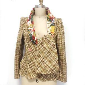 Like new/KENZO Plaid Jacket/Size 44